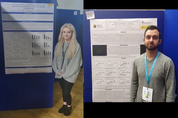 Roisin Cassidy and Kyle Sadik presenting their posters