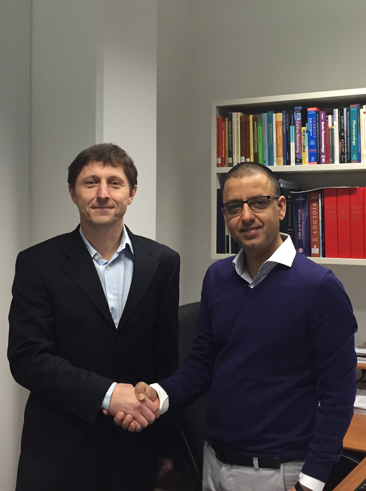 Newly appointed lecturer is welcomed by Professor Thomas Walther
