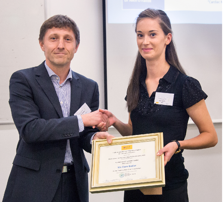 Prize Giving: Annual Conference of the Irish Association of Pharmacologists 2015
