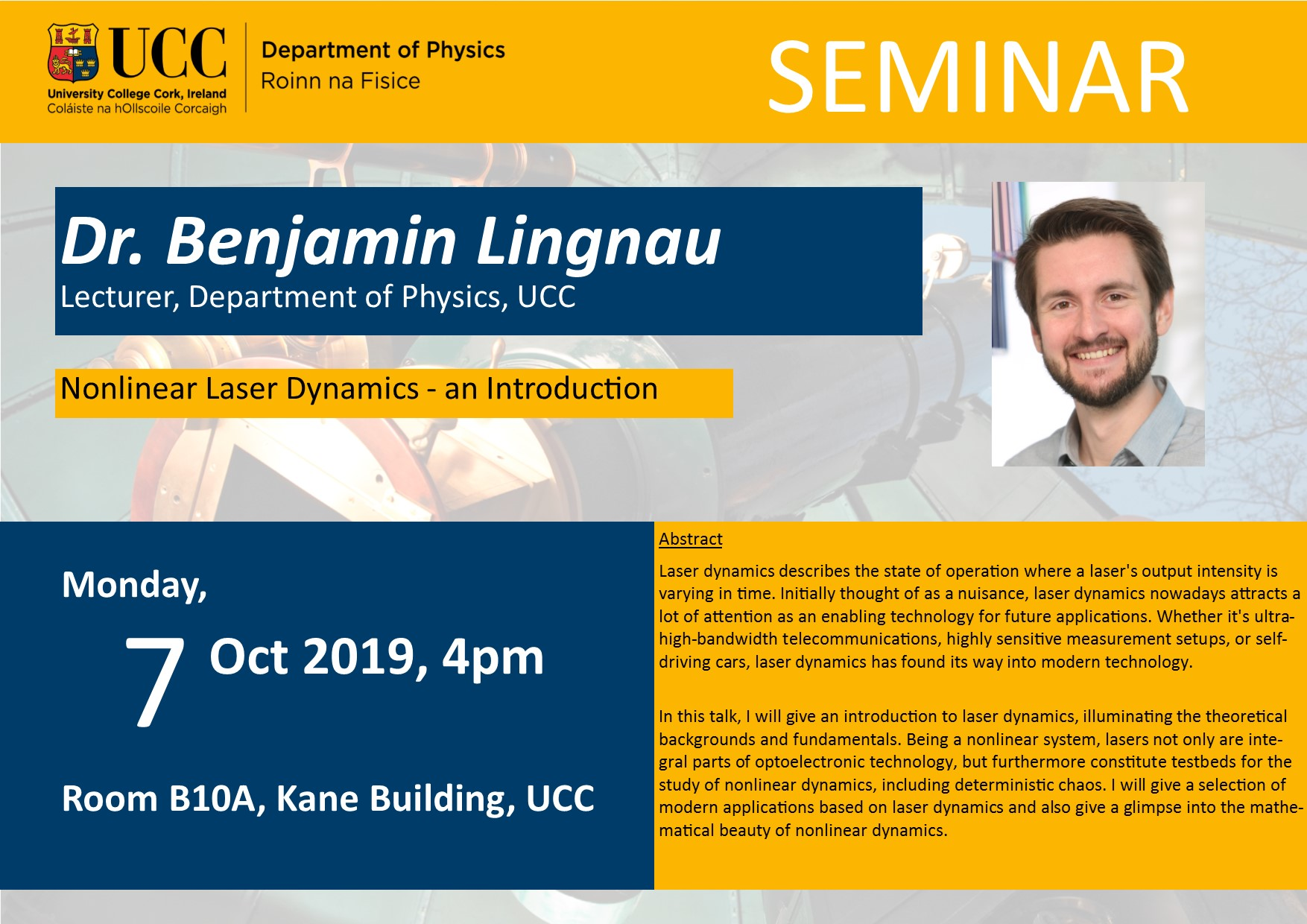 Image of Seminar poster for 7 Oct 2019