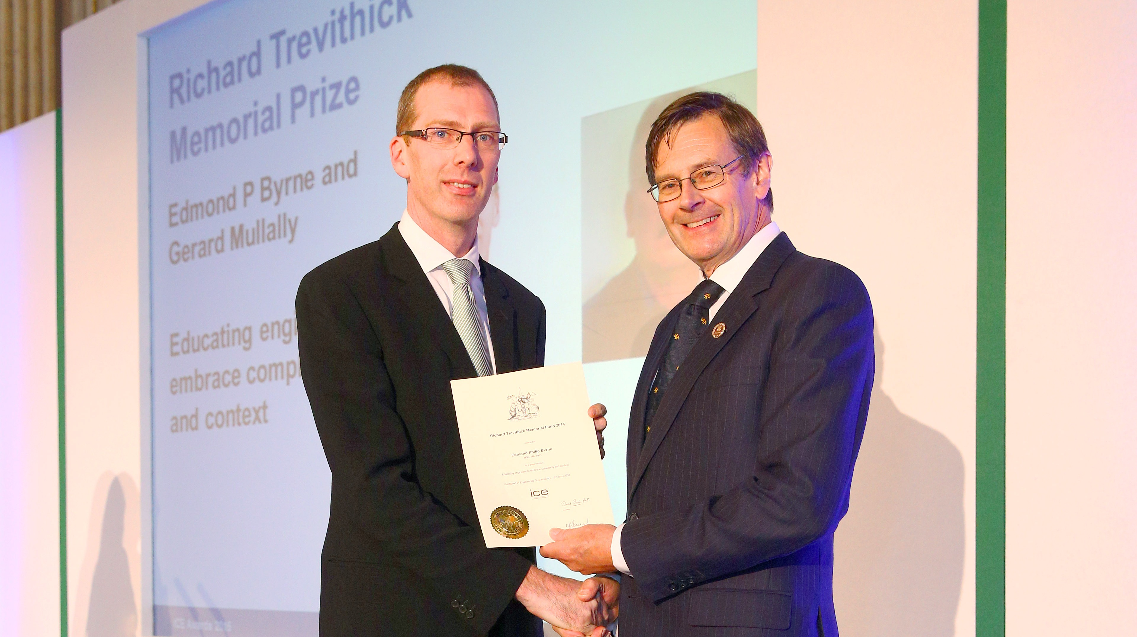 Dr Edmond Byrne Awarded Trevithick Prize for UCC Engineering Education Research