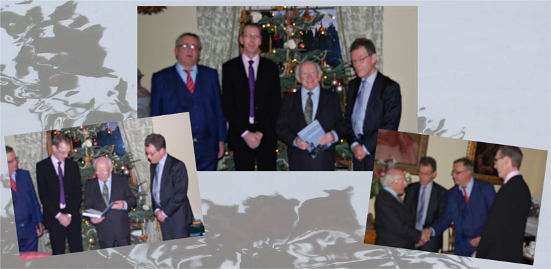 Transdisciplinary book presentation to President Higgins