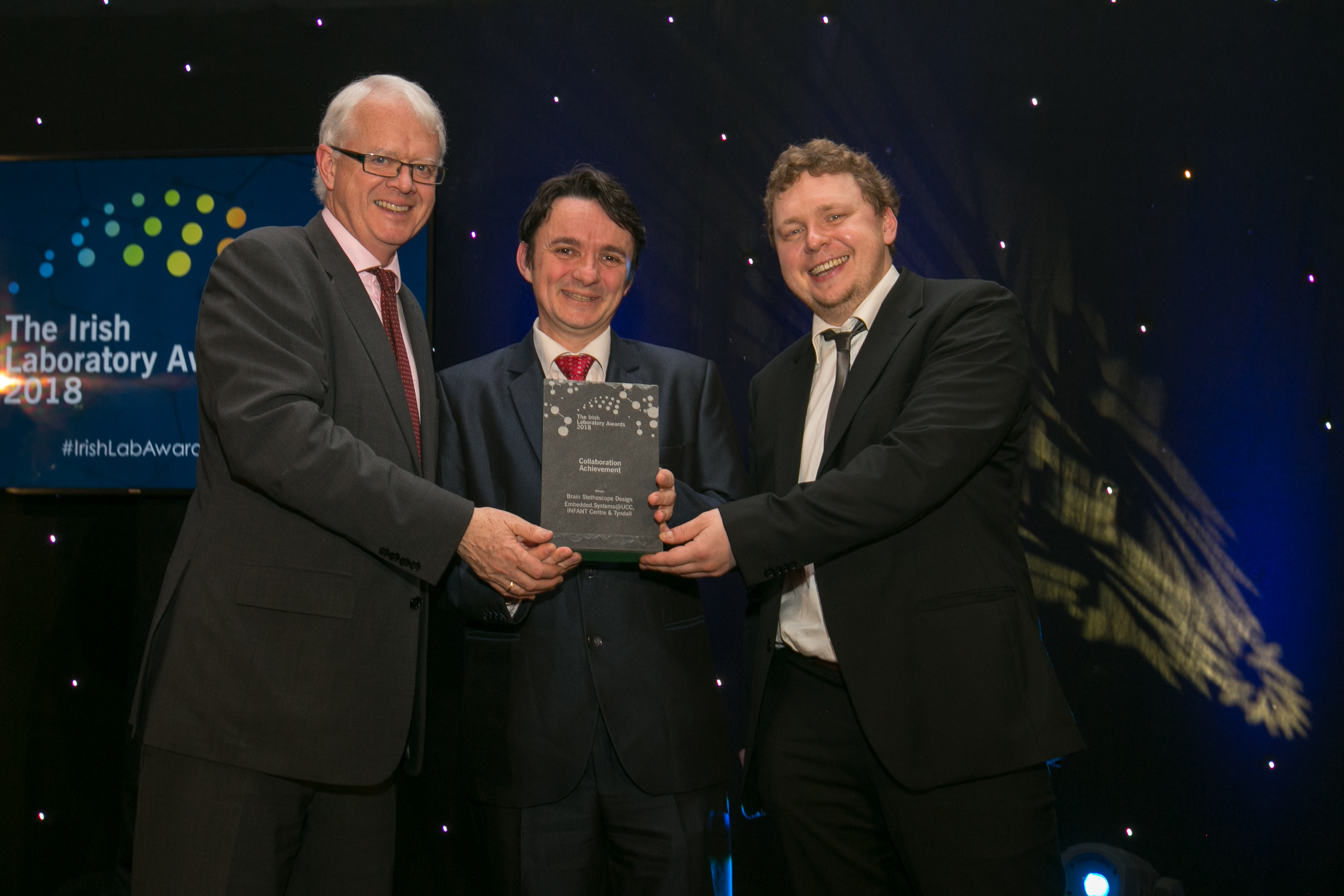 Embedded.Systems@UCC and the SFI Infant Centre win Collaboration Achievement award