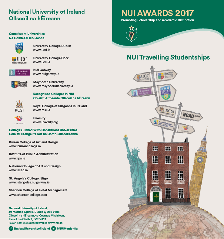 National University of Ireland Awards Scheme for 2017 Announced