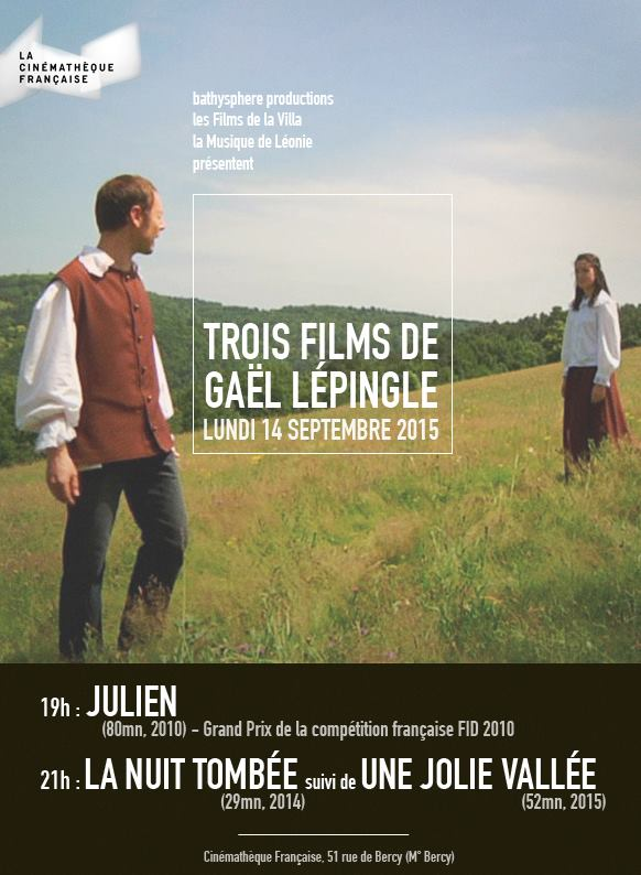 Cinematheque Francaise devoting a day to the work of film maker Gael Lepingle