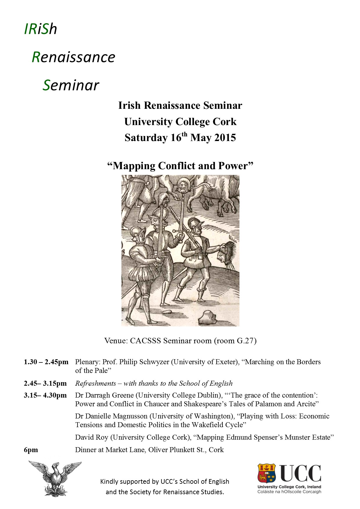 Irish Renaissance Seminar hosted by the School of English
