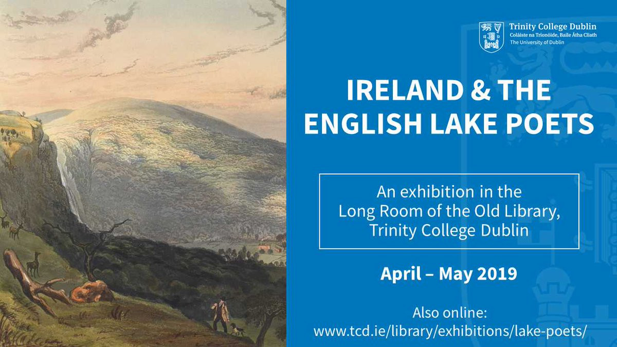 Launch of Exhibition Ireland and the English Lake Poets by IRC Postdoctoral Fellow