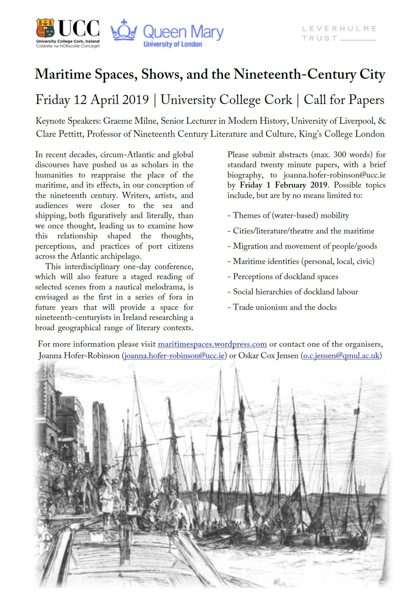 Call for Papers: Maritime Spaces, Shows, and the Nineteenth-Century City