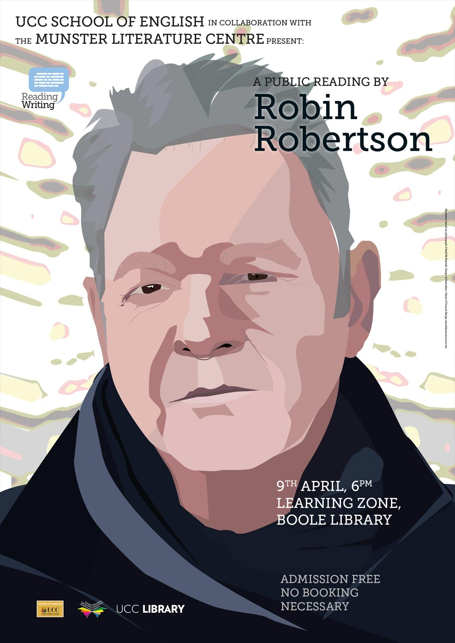 Robin Robertson, poet and publisher, to read at UCC