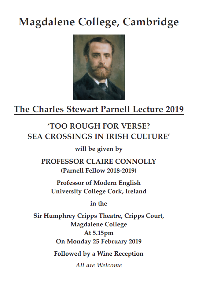 Prof. Claire Connolly to deliver the Charles Stewart Parnell lecture 2019