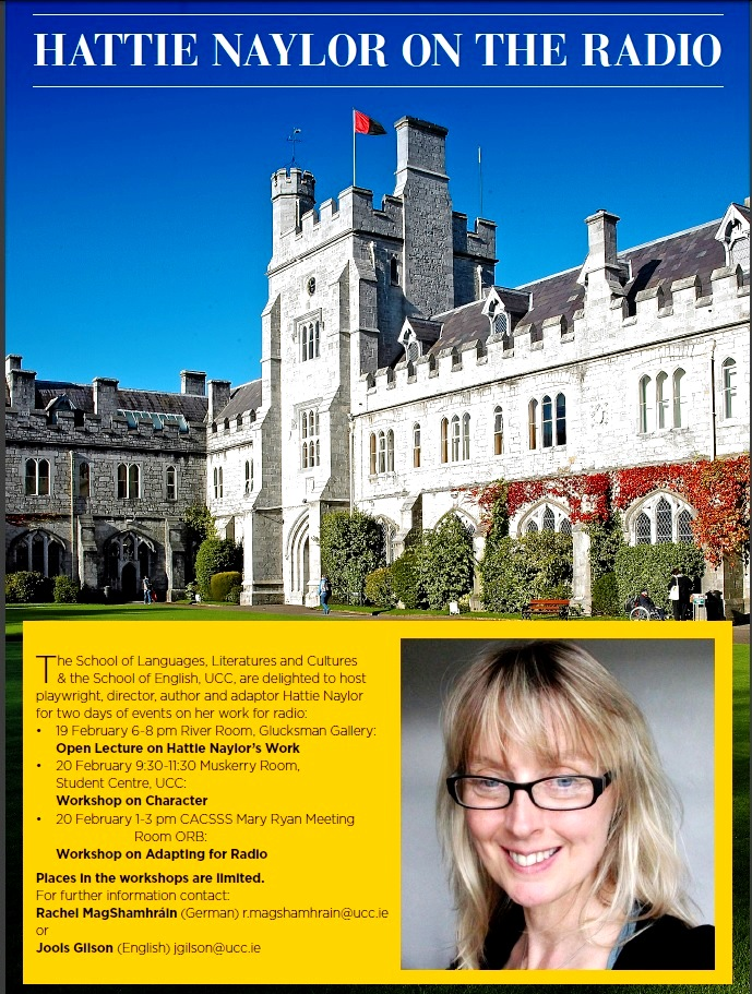 Award-Winning Writer Hattie Naylor to visit UCC