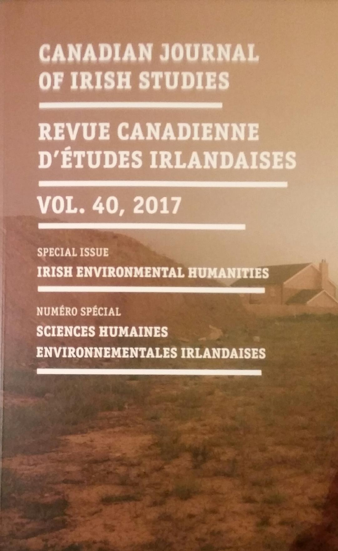 The School's Dr Maureen O'Connor has guest-edited the Canadian Journal of Irish Studies