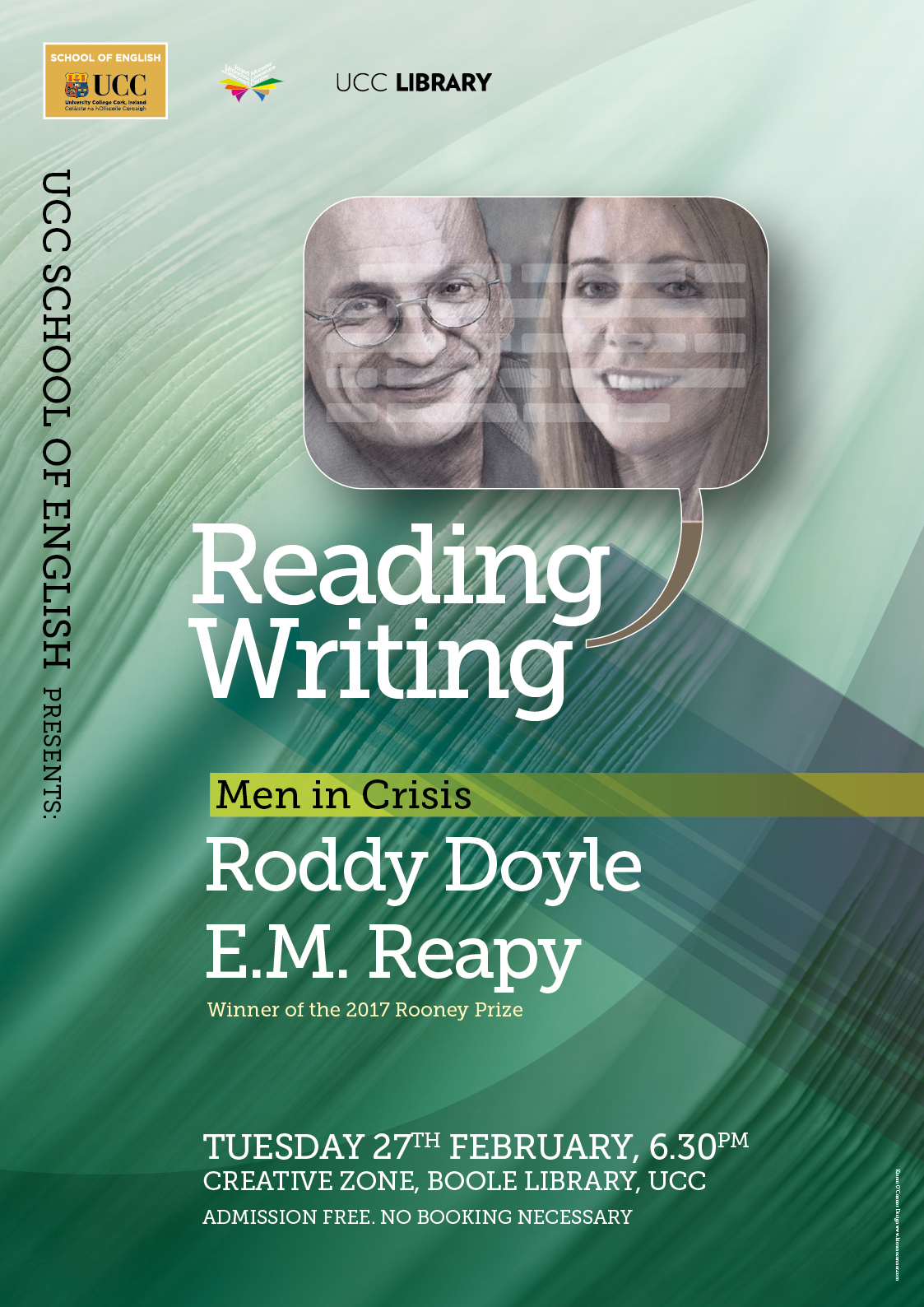 Featuring Booker Prize winner Roddy Doyle and Rooney Prize winner E. M. Reapy.