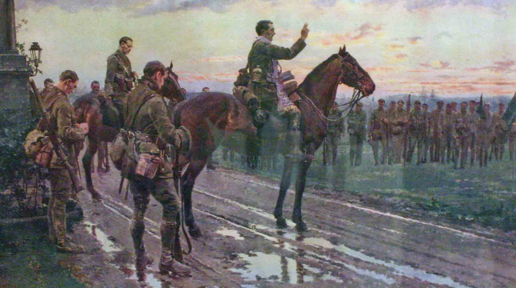 Blessing the Munster Fusiliers
