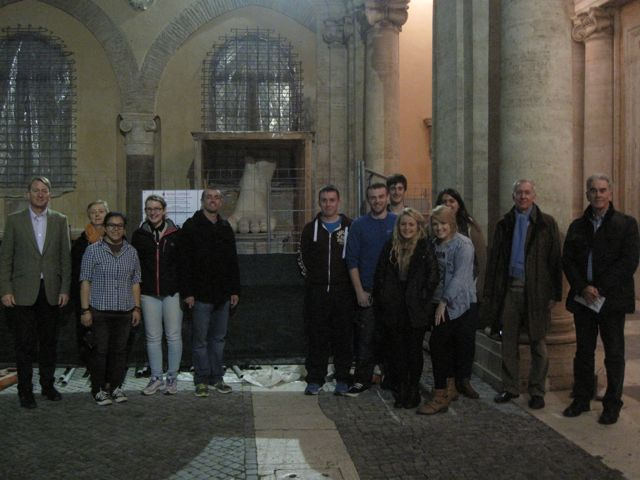 Ireland and Rome course students at the Capitoline Museum, Rome