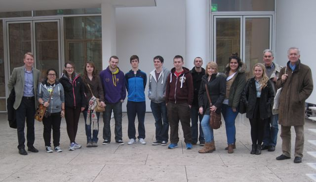 Ireland and Rome course students at the Ara pacis augustae