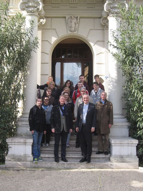 Ireland and Rome course students at the Pontifical Irish College, Rome