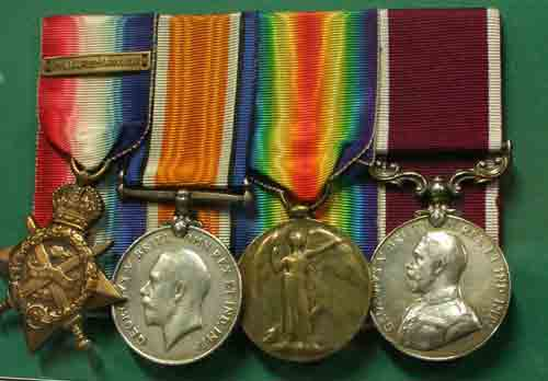 Medals awarded to a Connaught Ranger