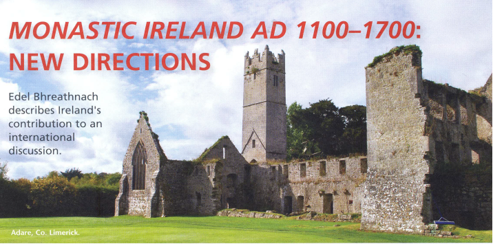IRC-funded Monastic Ireland Project features in the latest volume of Archaeology Ireland