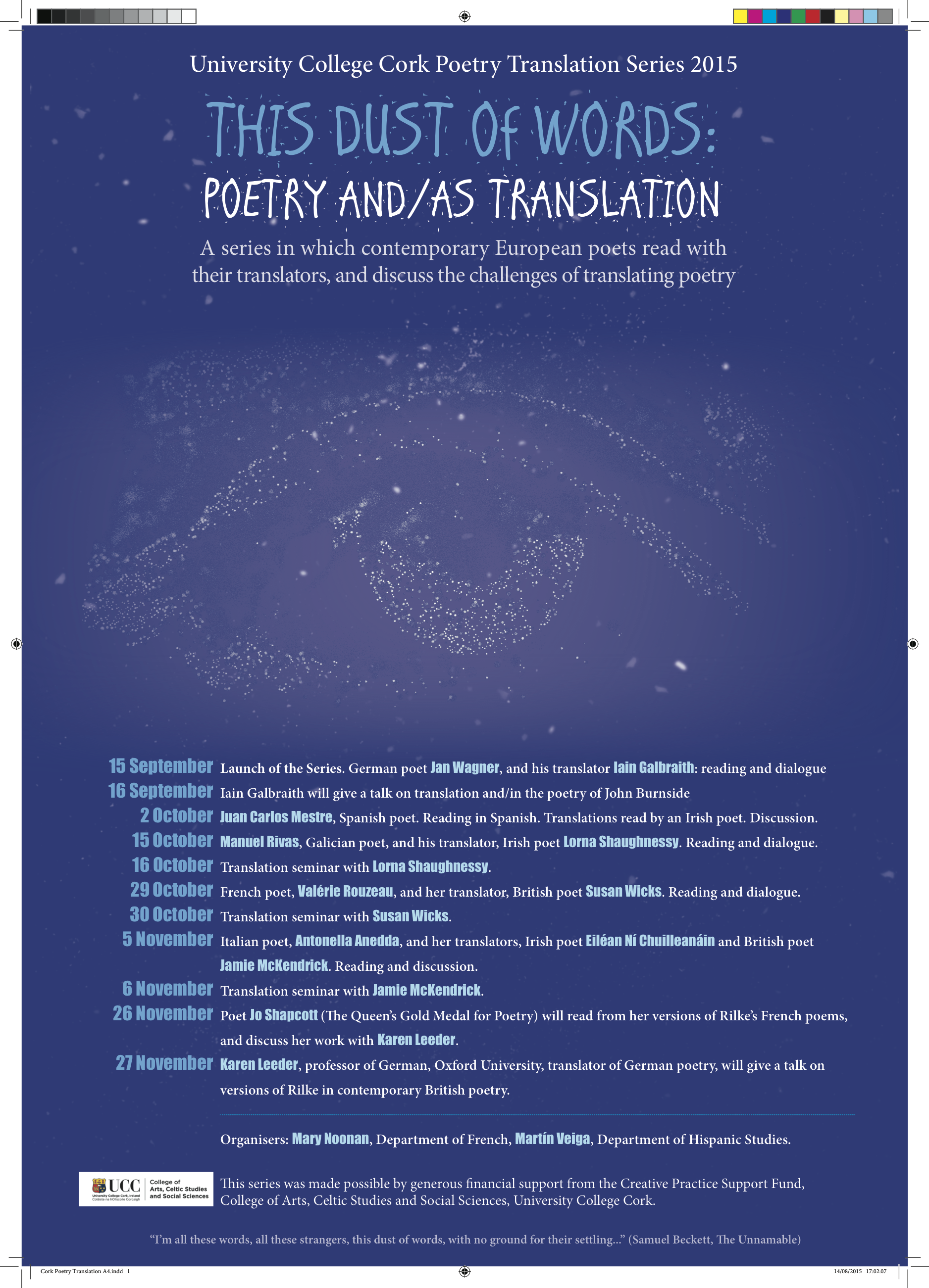 This Dust of Words: Poetry and/as Translation