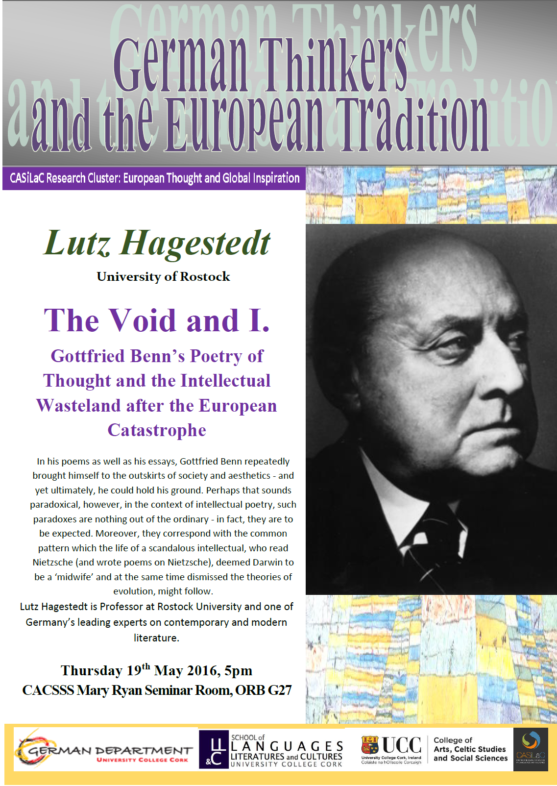Lutz Hagestedt, University of Rostock, presents 'The Void and I.'