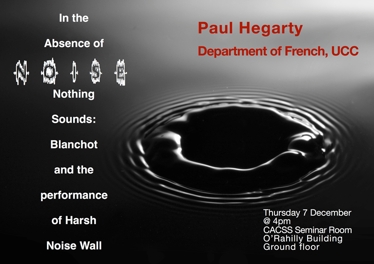 Research Seminar - Paul Hegarty
