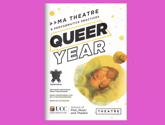 MA Theatre & Performative Practices announce Queer Year 2020-21