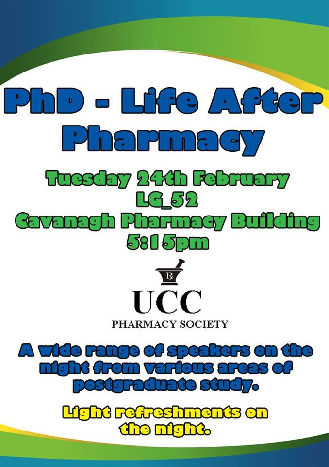 Pharmacy Postgraduate Information Evening Tuesday 24th February
