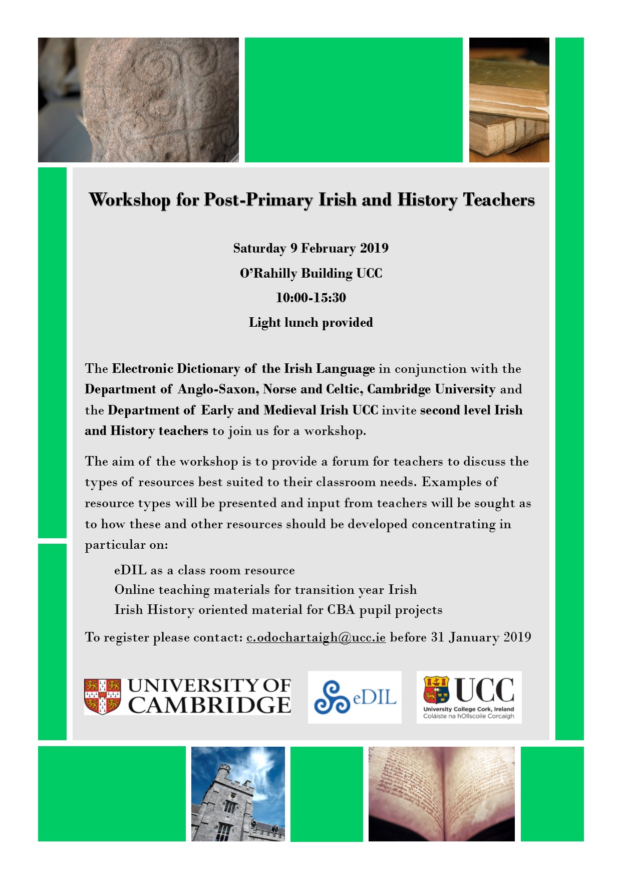 Workshop for Post-Primary Irish and History Teachers
