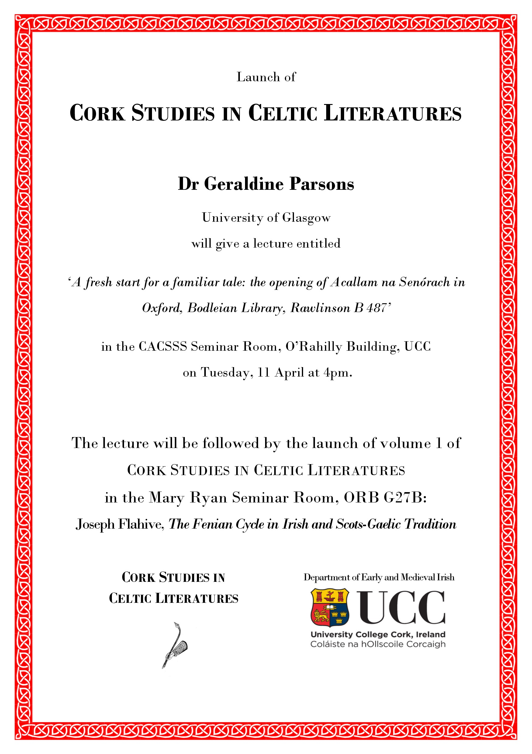Cork Studies in Celtic Literatures