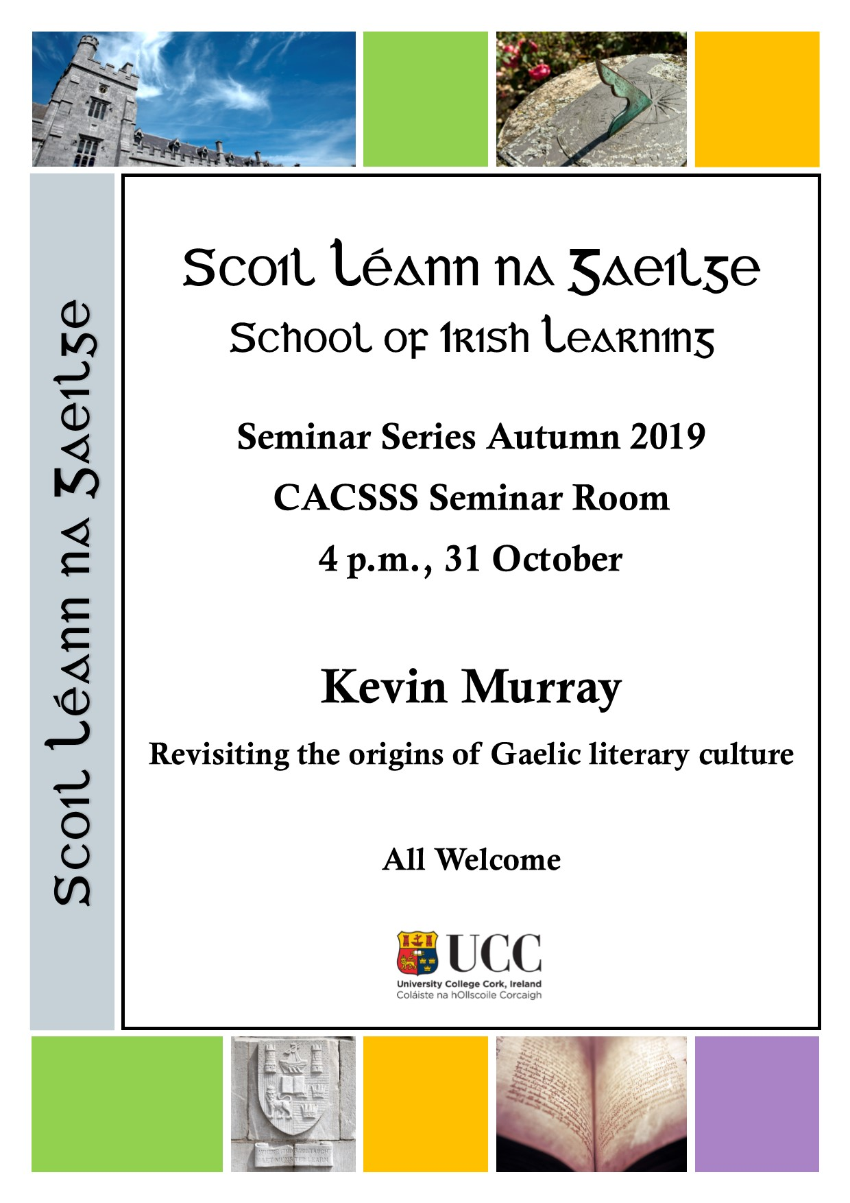 School of Irish Learning Seminar Series