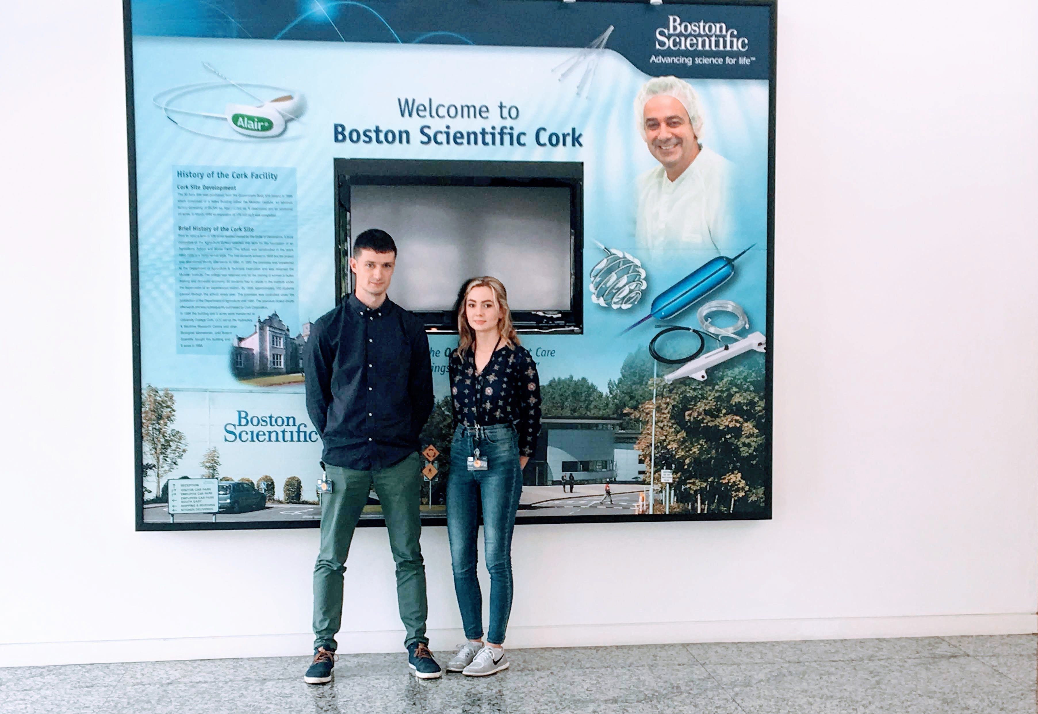 Success for two of our Chemistry of Pharmaceutical Compounds students with the Boston Scientific Cork GROW Programme