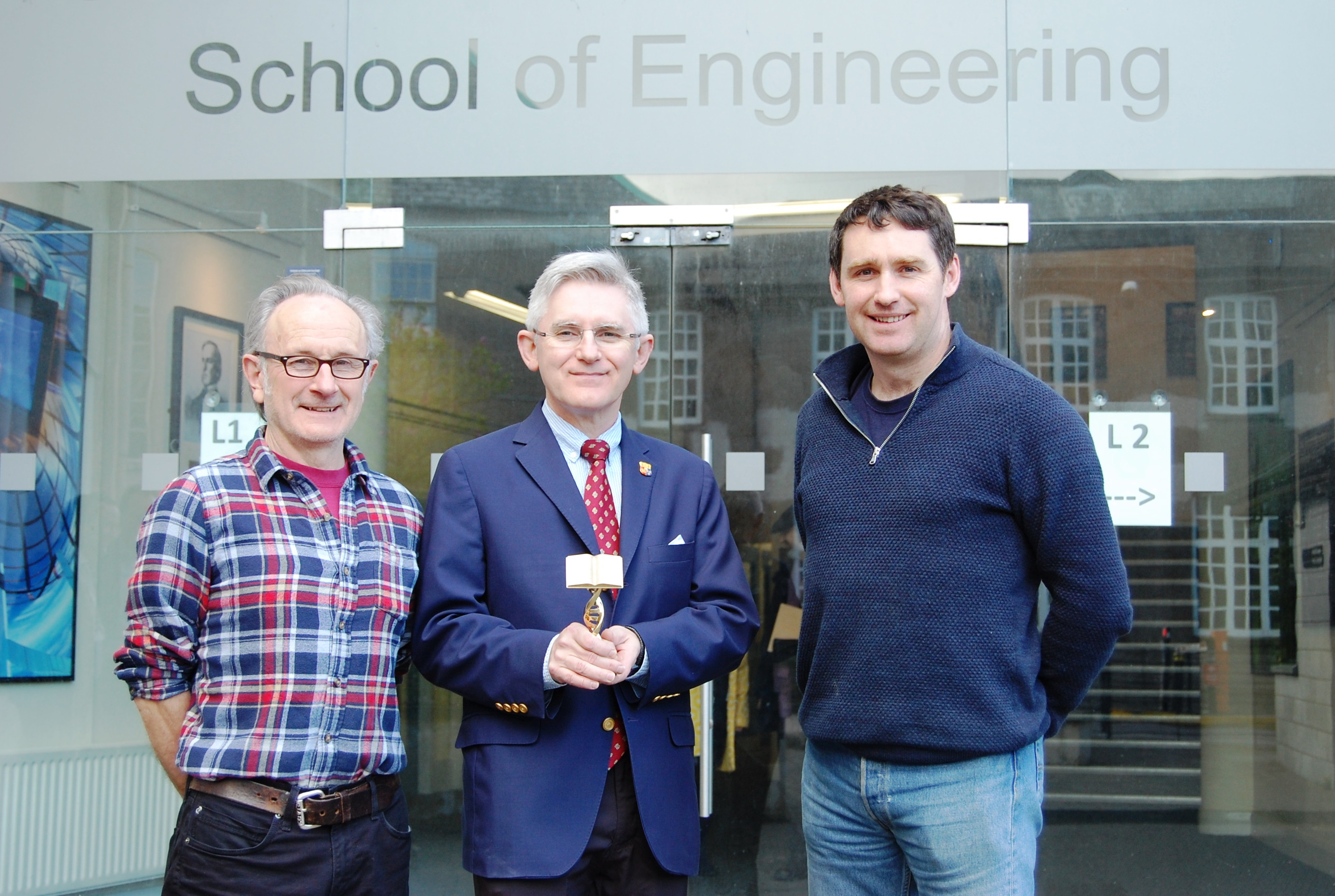 President Patrick O'Shea visits the College of SEFS
