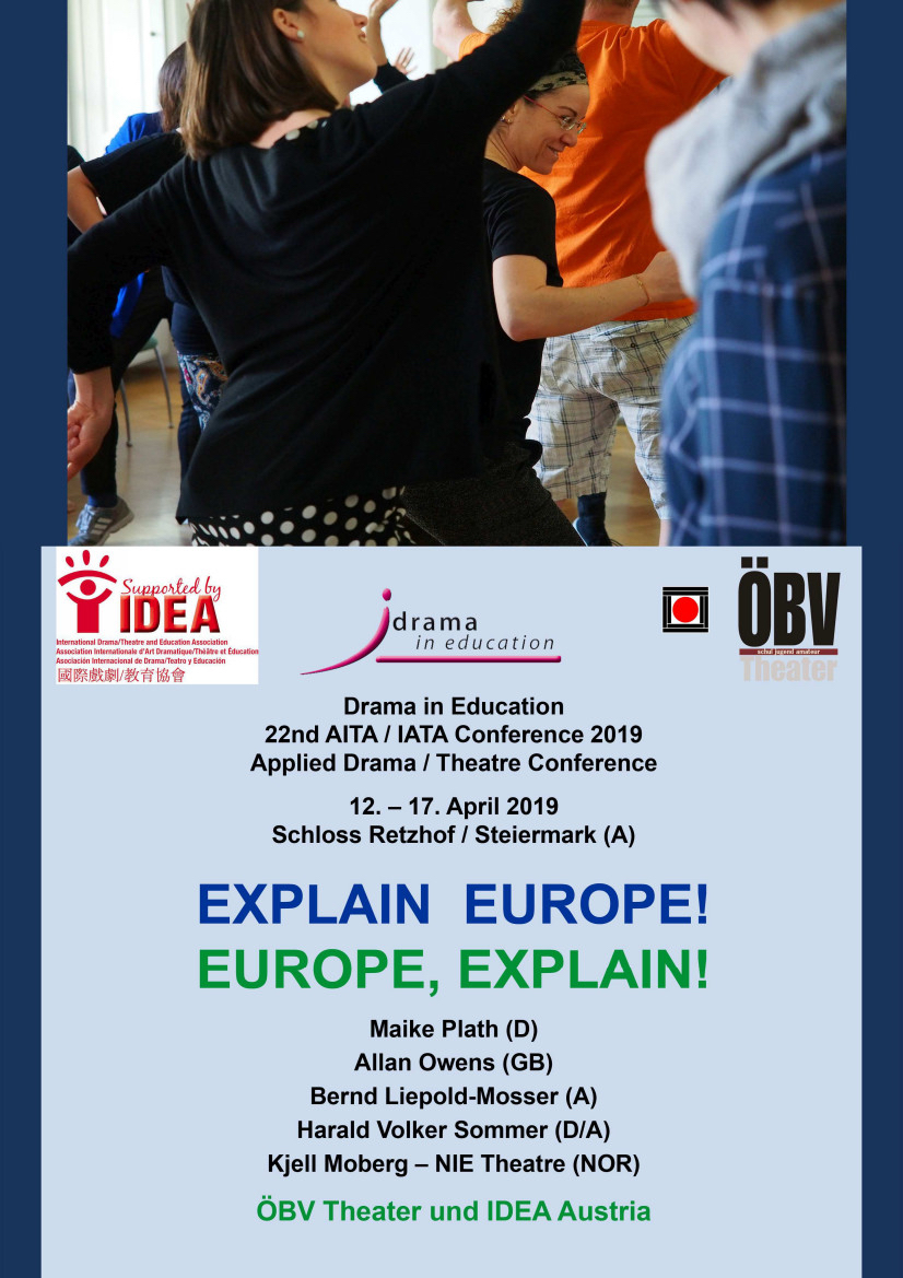 Drama in Education Conference - Austria - 12-17 April 2019 - FOCUS ON EUROPE