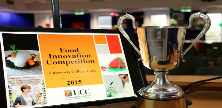 The group behind Nutri-vive, a functional beverage developed by students, was awarded the UCC Food Innovation trophy.