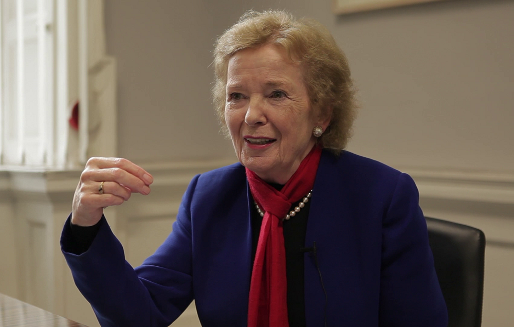 Mary Robinson is the first guest on UCC's new podcast