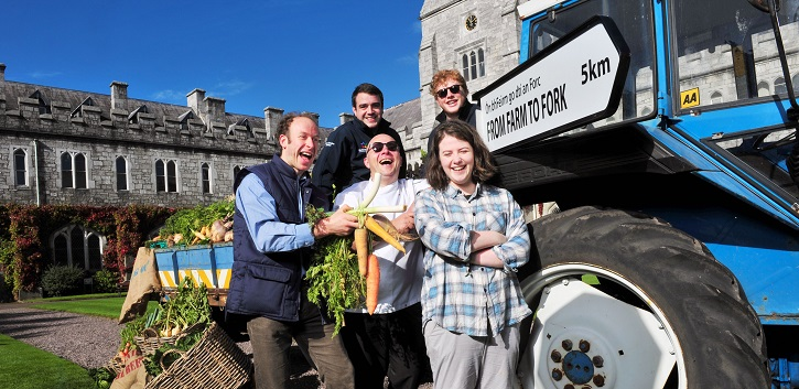 Harvest time on campus for Farm to Fork 'first'