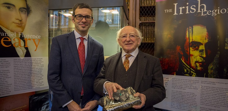 President Michael D. Higgins opens UCC exhibition