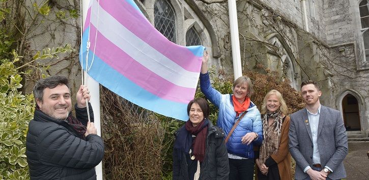 Transgender Pride Flag flying at UCC in 'first' for Irish universities