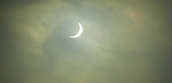 The solar eclipse viewed from UCC