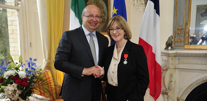 Grace Neville named Chevalier de la Légion d'Honneur