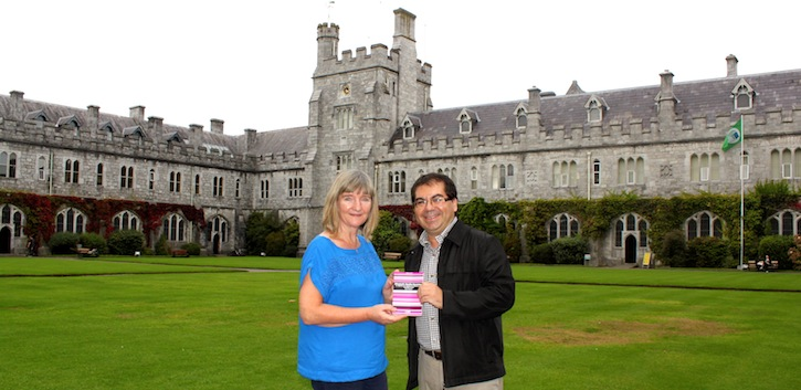 Visiting journalist presents book to UCC Library