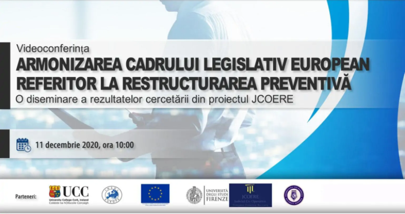 Webinar Event: Harmonization of the European legislative framework on preventive restructuring - a dissemination of research results from the JCOERE project