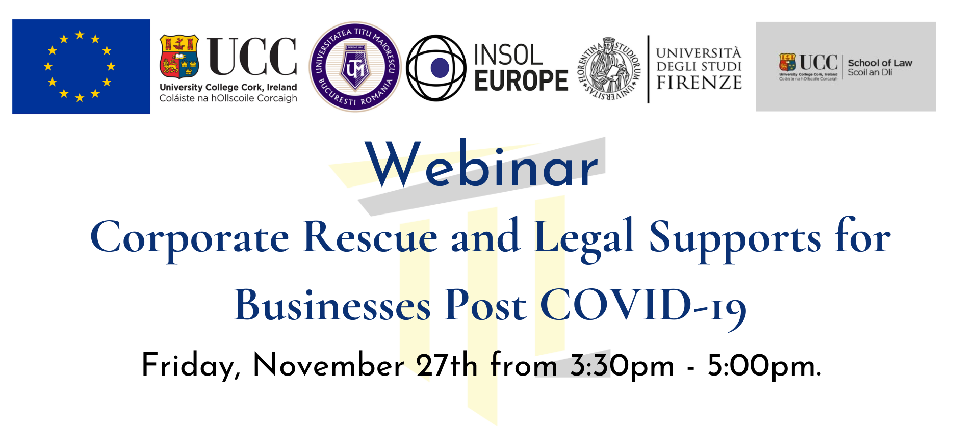 Project Webinar: Corporate Rescue and Legal Supports for Businesses Post COVID-19