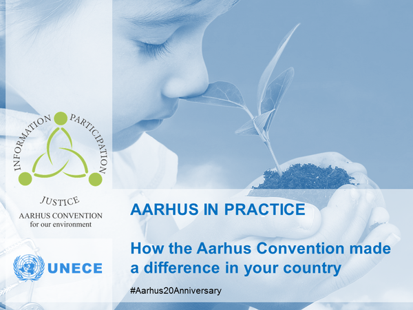 Conference to mark the 20th anniversary of the adoption of the Aarhus Convention