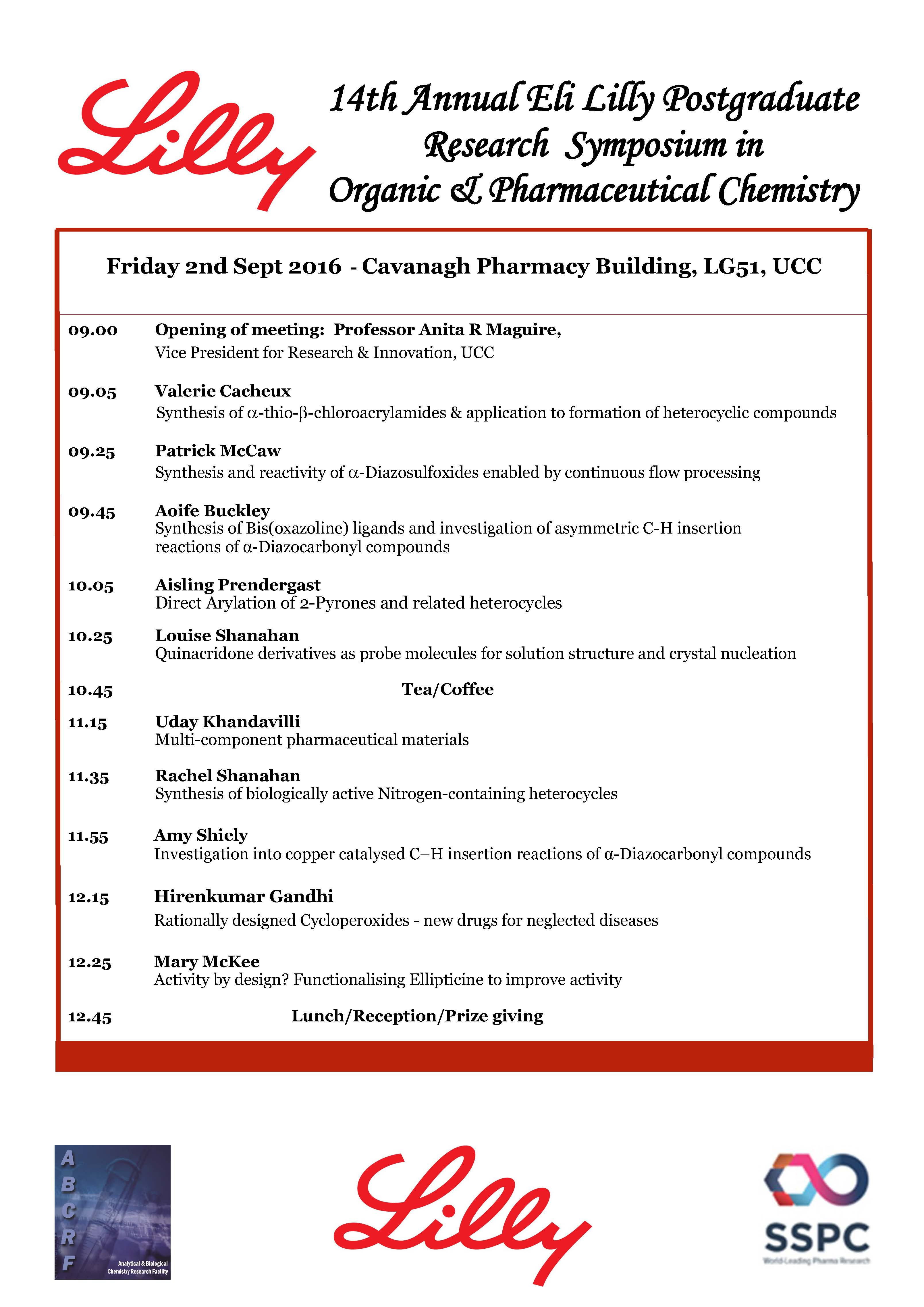 14th Annual Eli Lilly Postgraduate Research Symposium