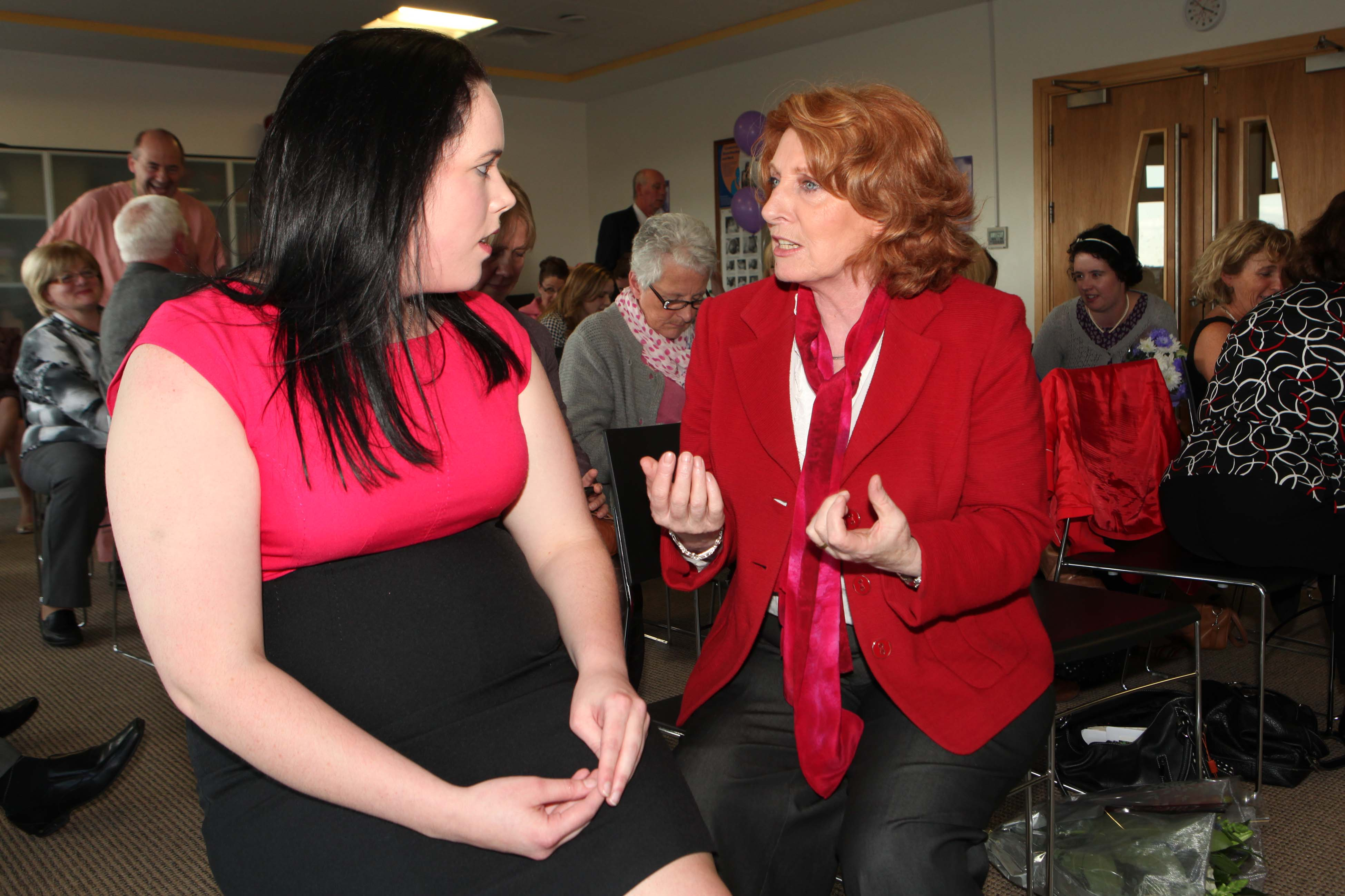 Presenting study findings to Minister Kathleen Lynch