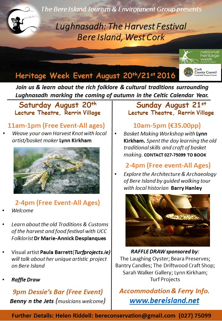 Heritage Week Event August 20th/21st 2016