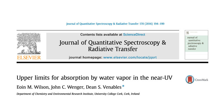New Publication in The Journal of Quantitative Spectroscopy and Radiative Transfer