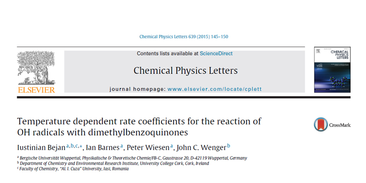 New Publication in Chemical Physics Letters